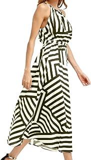 657b15177060 Sunward Women Summer Casual Off Shoulder Stripe Sleeveless Loose Beach Maxi  Dress