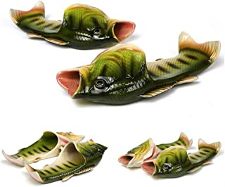 BING RUI CO 6 Colours Fish Slippers Beach Shoes Non-Slip Sandals Creative Fish Slippers Men and Women Casual Shoe