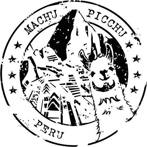 Machu Picchu Peru Grunge Travel Stamp Vinyl Decal Bumper Sticker/Pegatina