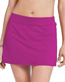 Wincret Badeshorts Damen mit Slip R/öcke Strand Wassersport Bikinihose Schnelltrocknend UV Schutz Hollow Jaquard Bikinirock mit hoher Taille