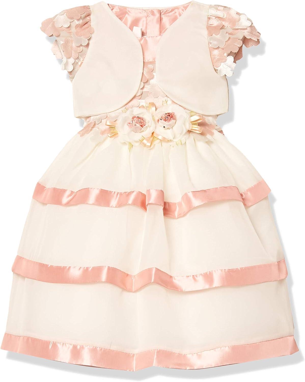 Pretty Me, USA Girls' Sleeveless Flower Dress with Jacket