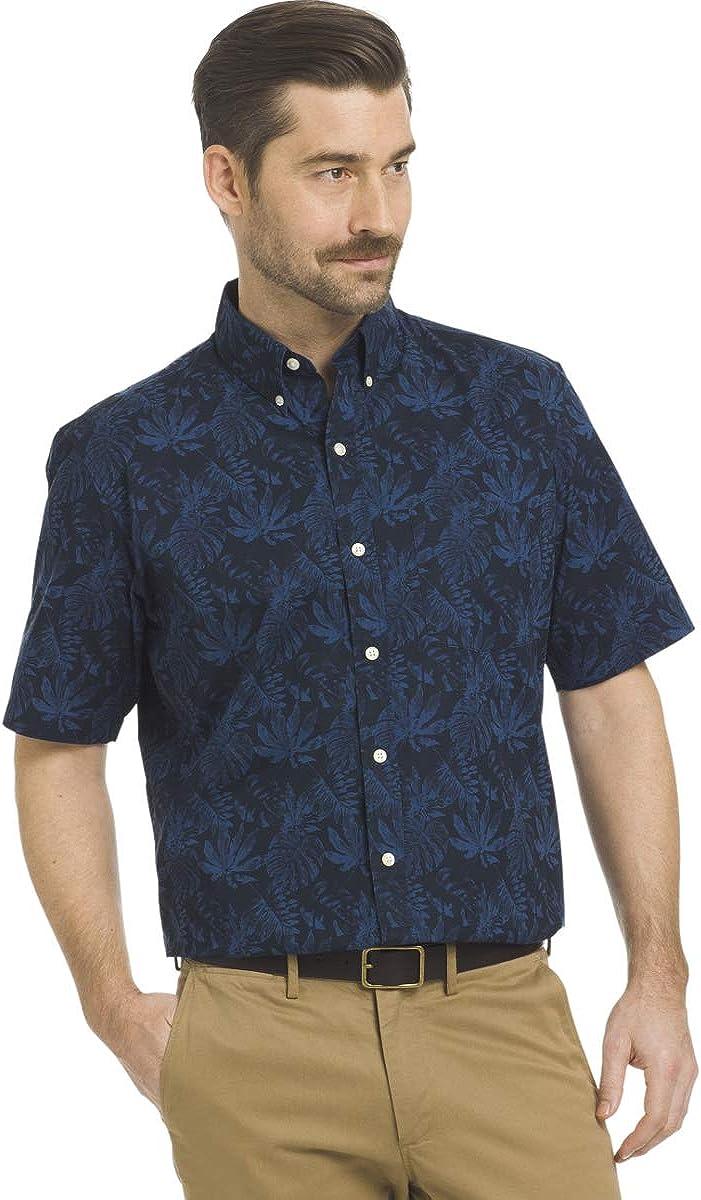 Arrow Men's Coastal Cove Button-Down Shirt (Navy Blazer, Large)