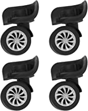 CLISPEED 4pcs Luggage Suitcase Caster Wheels Swivel Wheel Replacement Luggage Travel Suitcase Wheels Plastic Bearings Repa...