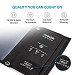 Solar Panel, Anker 21W 2-Port USB Portable Solar Charger with Foldable Panel, PowerPort Solar for iPhone 11/Xs/XS Max/XR… 13 The Anker Advantage: Join the 50 million+ powered by our leading technology Fast Charging Technology: PowerIQ delivers the charging speed up to 2.4 amps per port or 3 amps overall under direct sunlight. 21 watt SunPower solar array is 21.5-23.5% efficient, providing enough power to charge two devices simultaneously Incredibly Durable: Industrial-strength PET polymer faced solar panels sewn into a rugged polyester canvas offer weather-resistant outdoor durability
