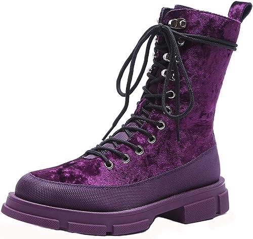 Clásico Con Cordones Para damen Stiefel Altas Martin Superior Stiefel Impermeables Para El Desierto Al Aire Libre