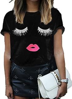 Summer Fashion Women Cute Short Sleeve Printed Tops Casual T Shirt