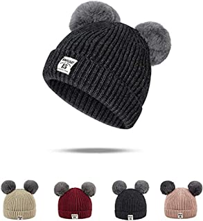 f9154d535b0 Rgslon Baby Toddler Warm Knit Hats Cotton Beanies Caps for Boys Girls