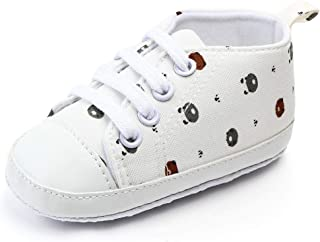 Isbasic Infant Baby Girls Canvas High Top Sneaker Toddler Anti-Slip Soft Sloe Leisure Cartoon Pattern Lovely Candy Shoes