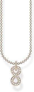 Thomas Sabo Infinity - Collar de plata de ley 925 para mujer, 38-45 cm de longitud