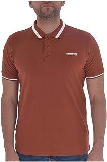 Lambretta Mens Single Tipped Collar Cotton Polo Shirt - Arabian Spice - S
