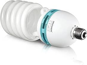 Neewer 85W 110V 5500K Tri-Phosphor Spiral CFL Daylight Balanced Light Bulb in E27 Socket for Photo and Video Studio Lighting(85W)