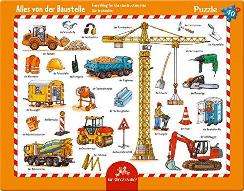 Rahmenpuzzle Alles von der Baustelle (40 Teile)