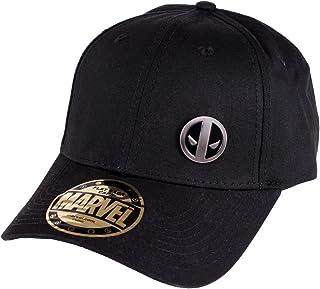 Deadpool Logo Gorra de béisbol de Metal Negro de algodón Marvel