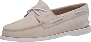 Sperry Women's Authentic Original Boat Shoe, Ivory Nubuck, 6.5