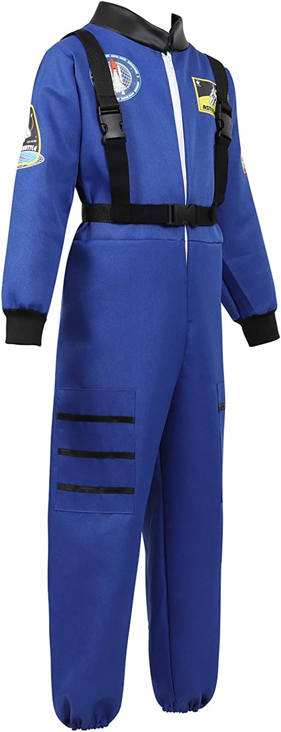 AIGASEA Kids Astronaut Costume Space Jumpsuit Role Play Costumes Spacesuit for Boys and Girls
