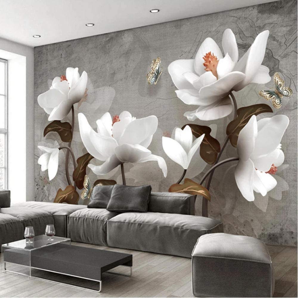 Clhhsy Waterproof and Removable Custom 3D Rare Wallpaper Flower Photo Product