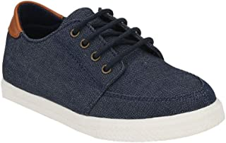 Hopscotch Tuskey Shoes Boys Genuine Leather/Lining Mesh Lace Up Casual Shoe in Navy Color