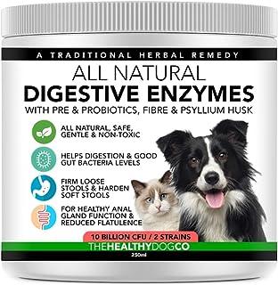 Probióticos, Prebióticos y Enzimas Digestivas Para Perros | 100% Natural 250ml | Para Calmar el Estómago, la Digestión Mejorar la Inmunidad las Deposiciones y las Flatulencias | 10 Mil Millones de CFU