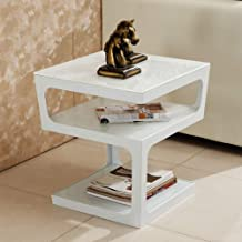 Home& Simple Furniture/Simple and Modern Sofa Side Table Square Tempered Glass Living Room Coffee Table 3 Layers Storage S...