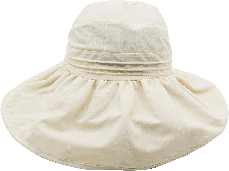 Bienvenu Womens Pure color Top Open Wide Brim Anti UV Sun Hat Foldable Summer Travel Beach Visor Cap