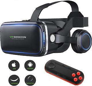 XGVRYG Auriculares 3D VR, Auriculares de Realidad Virtual Gafas 3D VR para Todos los teléfonos Inteligentes, con Control R...