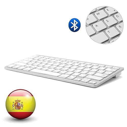 Español Layout Teclado Inalámbrico Bluetooth 3.0 Conexión, Marca Dingrich, Uso Universal, Ultra Delgado