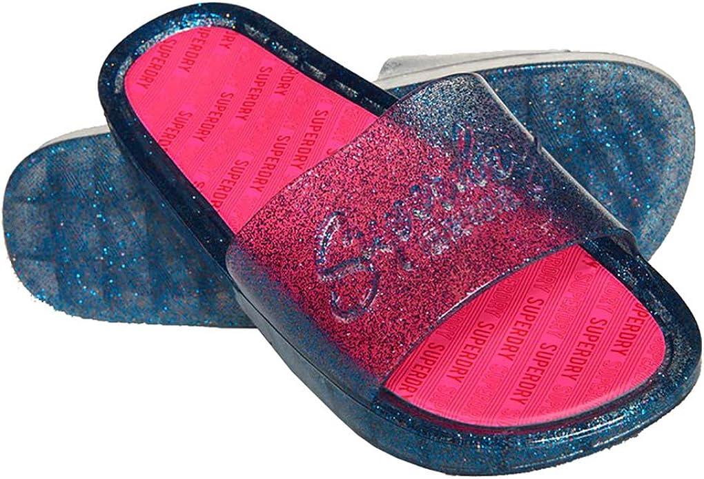 Superdry Womens Glitter Pool Slide Flip Flops
