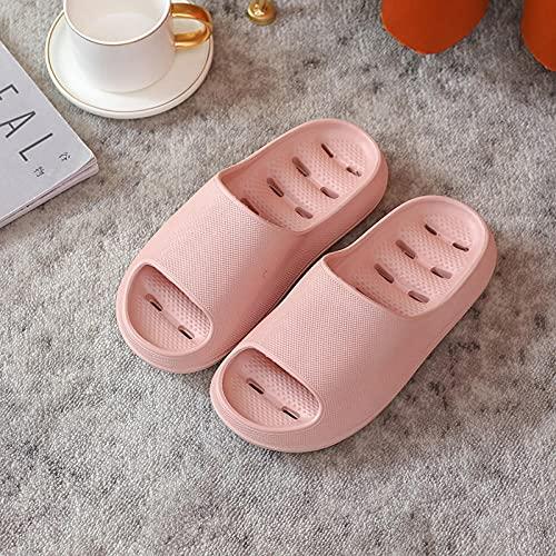QPPQ Zapatillas de baño junto a la piscina, zapatillas de baño para el hogar, sandalias de moda en el cuarto de baño-Pink_4.5-5, Zapatillas de baño para interiores y exteriores