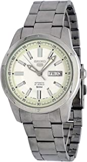 Seiko 5 SNKN09J1 Men's Japan Stainless Steel Silver Dial 50M WR Automatic Watch