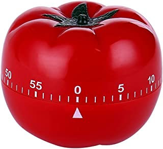 Novelty Cute 1-60min 360 Degree Rotating Tomato Shape Timer, Mechanical Kitchen Ring Alarm Tool for Cooking Food Countdown...