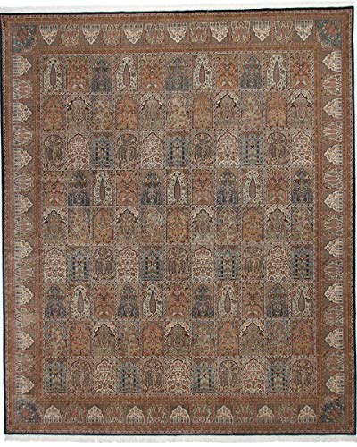 Nain Trading Indo Ghom 401x333 Orientteppich Teppich Grau Handgeknüpft Indien