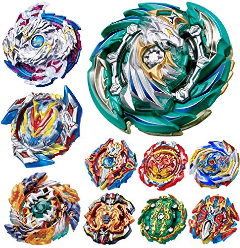 teraut Gyros 10 Pieces Pack, Battling Top Battle Burst High Performance Set, Birthday Party School Gift Idea Toys for Boys Kids Children Age 8+