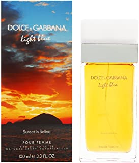 Dolce & Gabbana Light Blue Sunset in Salina Eau de Toilette, 3.3 Fluid Ounce