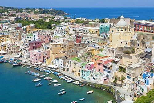 Posterazzi PPI164672S Marina Corricella Procida Island Bay of Naples Campania Italy Poster Print, 27 x 9