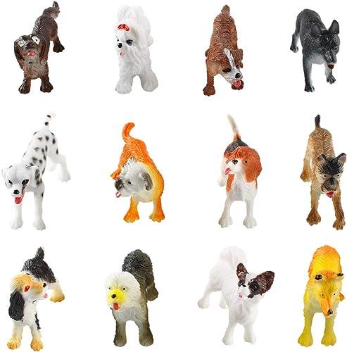 2021 Larcele 12 Kinds Simulated Mini Plastic Animal online sale Model Dog Toy Figures for online sale Kids FZG-01 (Dog) online sale