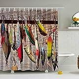 LAundNA Bunte Dreamcatcher Dekor Polyester Wasserdichte Stoff Duschvorhang Inklusive 12 weißen Haken , 3 , 150*180cm