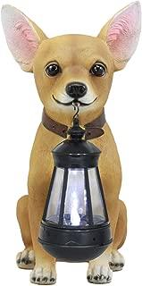 Ebros Picante Mexican Chihuahua Dog Decor Path Lighter Statue 12.5