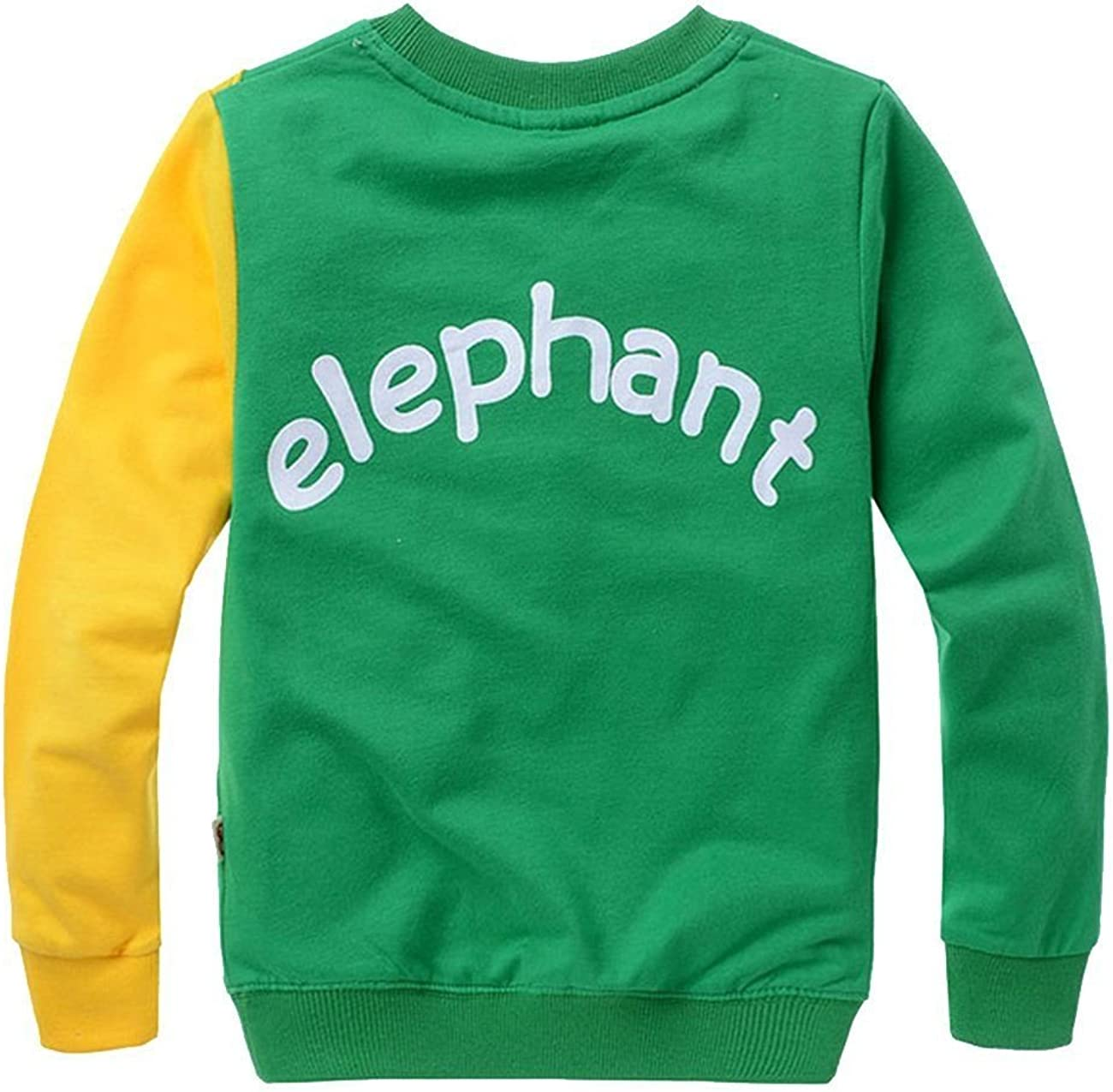 COCOM10 Ni/ños Puentes Elefante Su/éteres Con Capucha Su/éter Ropa Camisetas Casual Tops Cotton Tee Age 2 3 4 5 6 7