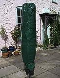 garden mile Grande Verde Funda sombrilla, jardín GIRATORIA Aire Secadora Cubierta, Resistente Impermeable UV PROTEGIDA Funda sombrilla, Gran TAMAÑO 195cm x 45cm