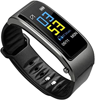 LTLJX Pulsera de Actividad Inteligente Deporte Pulsómetro con Monitor de Ritmo, Auriculares Bluetooth InaláMbricos 2 en 1, CardíAco, PresióN Arterial, Monitor de SueñO,Gris