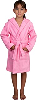 Girls Pool Cover-up, Kids Hooded Cotton Terry Beach Cover-up