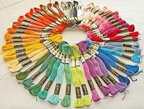 Anchor - 50 madejas de hilo de algodón trenzado para coser
