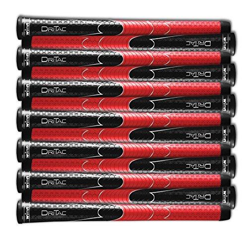 Winn SET OF 9 DRITAC AVS STANDARD BLACK/RED GOLF GRIP. 5DT-BRD