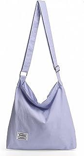 JOSEKO Canvas Tasche Umhängetasche Canvas Hobo Bag Handtaschen Damen Canvas Damentaschen Groß Kapazität Lässiger Sportsti...