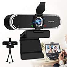 Webcam with Microphone, HD Webcam 1080P with Privacy Cover and Tripod Stand, Desktop Laptop USB Webcams, Streaming Compute...