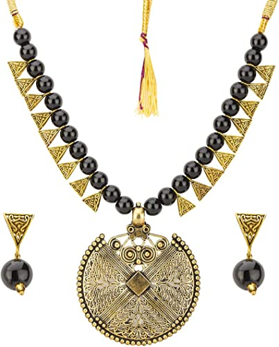 Designer Beads Gold Plated Necklace Set Jewellery For Women Style 7 CT NCKK 44062