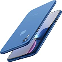 TOZO for iPhone XR Case 6.1 Inch (2018) Ultra-Thin Hard Cover Slim Fit [0.35mm] World's Thinnest Protect Bumper for iPhone XR [ Semi-Transparent ] Lightweight [Matte Finish Blue]