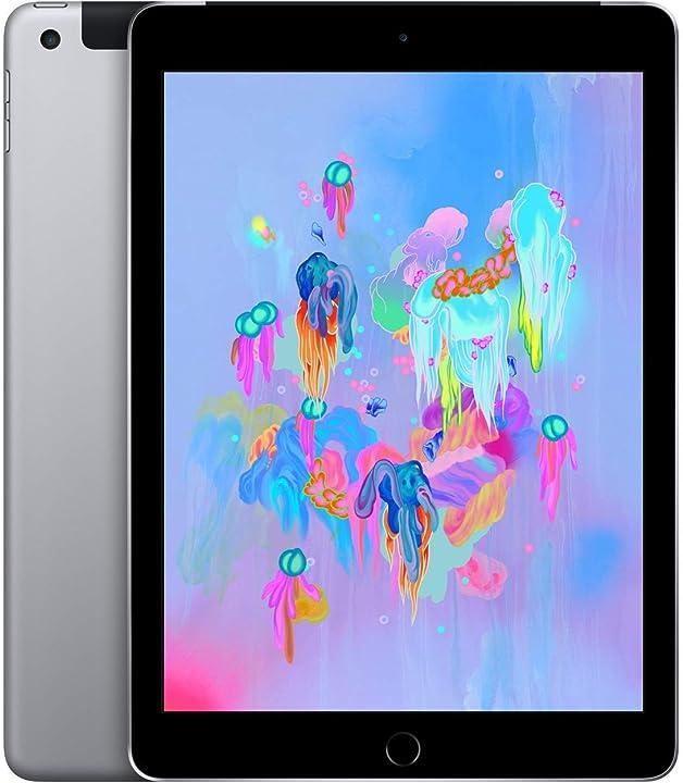 Ipad apple 9 7 (6th gen) 128gb wifi - cellular - grigio siderale - sbloccato (ricondizionato) B07NY9W9YW