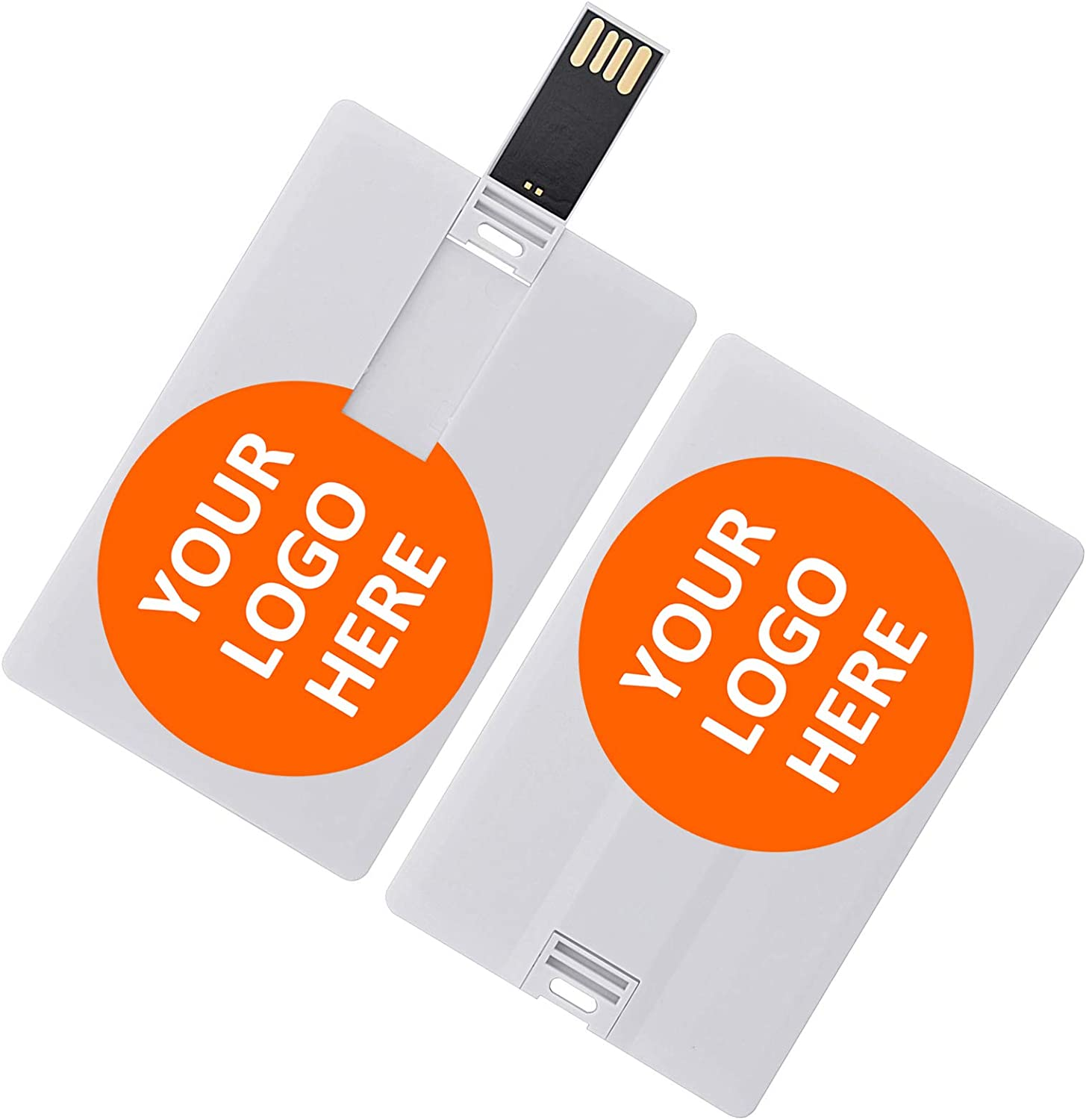 Custom Personal Company Logo/Photo/Text Gifts 4GB Credit Card Style USB Flash Drive Personalized Pendrive Memory Stick (4G & 5 PCS)