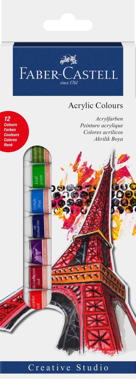 Faber-Castell Starter Kit – acrílico de colores (Pack de 12 ...